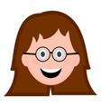 happy girl avatar vector image vector image