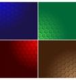 Hexagon color background vector image