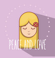 hippie cute cartoon vector image vector image