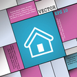 House icon sign Modern flat style for your design vector image