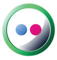 icon a flickr logo bubble with green round vector image vector image