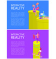 interactive reality laptops vector image vector image
