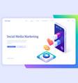 landing page social media marketing vector image