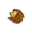 Lion Big Cat Head Woodcut vector image