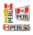 logo for peru vector image vector image