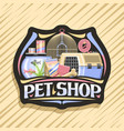 logo for pet shop vector image