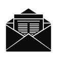 mail icon simple style vector image vector image
