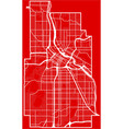 map of the minneapolis city in the style of flat vector image vector image