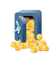 metal bank safe icon in a flat style vector image