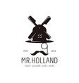 modern vintage hipster mr holland glasses vector image