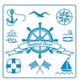 nautical badges and decor vector image vector image