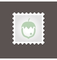 Nut stamp Outline vector image