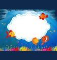 ocean view with the cloud board blank space vector image vector image