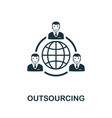 outsourcing icon symbol creative sign from vector image vector image