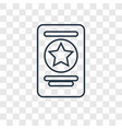 passport concept linear icon isolated on vector image
