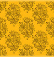 pattern set of dices and crowns on yellow vector image vector image