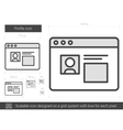 Profile line icon vector image vector image