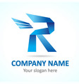 r fly logo vector image