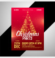 red shiny christmas party poster design template vector image