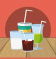 refresh drinks cartoon vector image