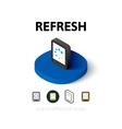 Refresh icon in different style vector image vector image