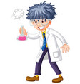 scientist holding test tube in hand vector image vector image