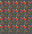 seamless barbeque pattern in with meat seasoning vector image