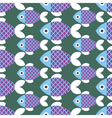 Seamless Fish Pattern Animal vector image vector image