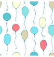seamless pattern of balloons vector image vector image