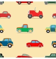 Seamless wallpaper of cars vector image vector image