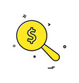 search dollar coin icon design vector image