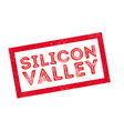 Silicon Valley rubber stamp vector image