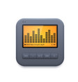 sound music player interface icon audio system vector image