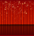 stage with red curtain eps 10 vector image