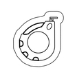 sticker monochrome with tape measure vector image vector image