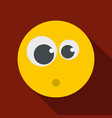 surprised smile icon flat vector image