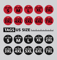 tags us size vector image vector image