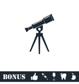 Telescope icon flat vector image