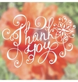 Thank you lettering Floral hand drawn vector image vector image