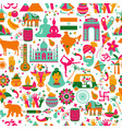 traditional symbols india seamless pattern on vector image