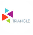 triangle color business logo vector image vector image