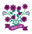 violet flowers and branches natural mothers day vector image