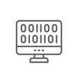 web development coding line icon vector image vector image