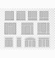 windows set set glass for house vector image