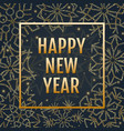 winter typographic new year with snowflakes vector image