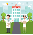 medical and hospital flat design vector image