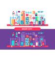 smart city concept vector image