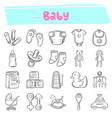 baby hand drawn doodle icon set vector image