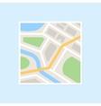 Flat City Map vector image