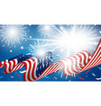 4th july independence day banner design vector image vector image